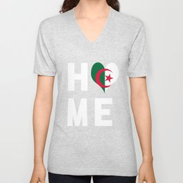 Algeria Is My Home Tee Shirt Unisex V-Neck