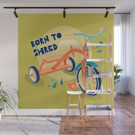Born to Shred Vintage Tricycle Wall Mural
