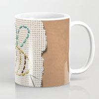 bee Mugs featuring bee by gazonula