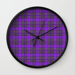 Lunchbox Purple Plaid Wall Clock