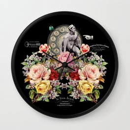 Nuit des Roses Revisited for Him Wall Clock