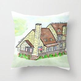 Melhorn's Port Herman Beach Condo, Vacation House Throw Pillow