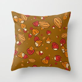 Nutty about Nuts Throw Pillow