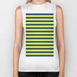 european union flag stripes Biker Tank
