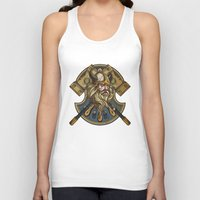 viking Tank Tops featuring Viking by Spooky Dooky