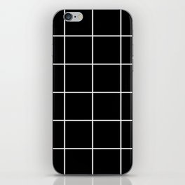 BLACK AND WHITE GRID iPhone Skin