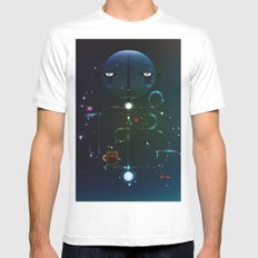 Self Portrait: Raid Boss, Coffee and Constellations White Mens Fitted Tee MEDIUM