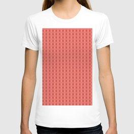 Retro Red Squares T-shirt