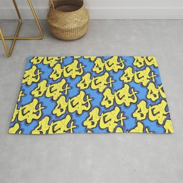 Stay Graffiti Pattern - Blue Honey Rug