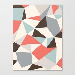 Mod Hues Tris Canvas Print