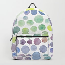 Dots purple and green Backpack