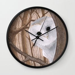 curious owl Wall Clock