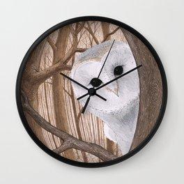 curious owl Wall Clock