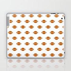 Texas longhorns orange and white university college texan football pattern Laptop & iPad Skin