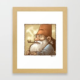 Gnome Pipe Enthusiast Framed Art Print