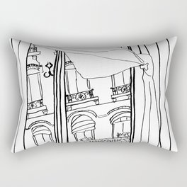 Window View in France  //  ink drawing Rectangular Pillow