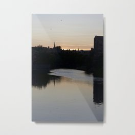 Sunset over Leith Edinburgh Metal Print