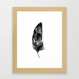 Black Feather Framed Art Print