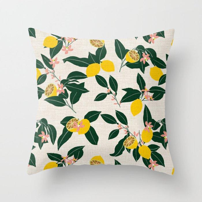 LEMONNY Throw Pillow