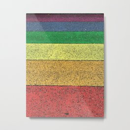 Rainbow Road - Iceland by Leah Dunham Metal Print