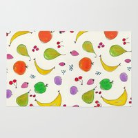 fruits Area & Throw Rugs featuring Fruits! by Niche Drawings