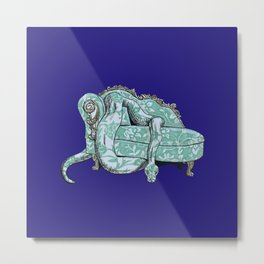 Couch Snake Metal Print