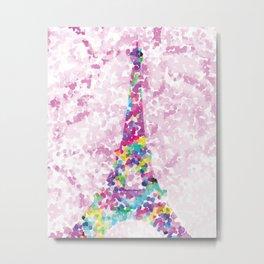 Eiffel Tower Dot-to-Dot Metal Print