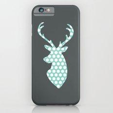 Deer head, art, polka dot, modern, vintage iPhone 6s Slim Case