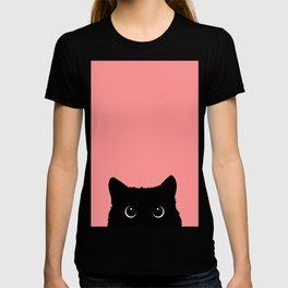 Sneaky black cat T-shirt