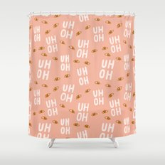Uh-Oh Pattern Shower Curtain