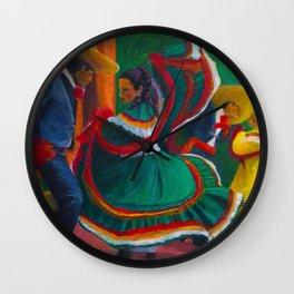 Baile Folklorico Wall Clock