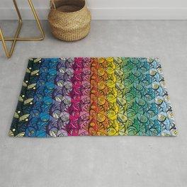 Escher Fish Rainbow Pattern Rug