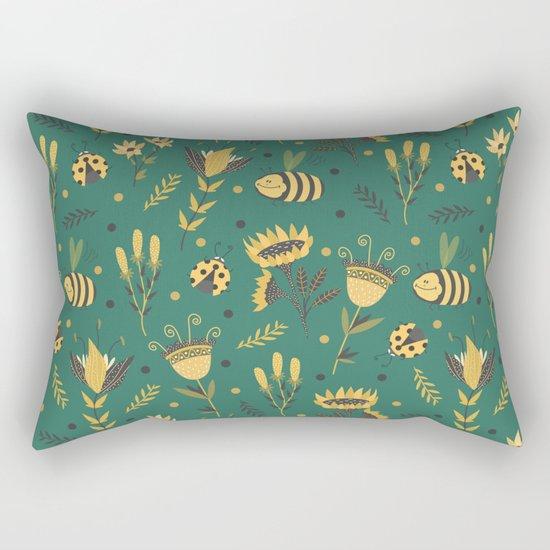 Bees and ladybugs Rectangular Pillow