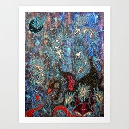 Obsidian night Art Print