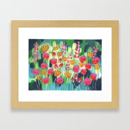 Frolicking In The Fields Framed Art Print