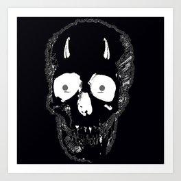Devil Skull Art Print