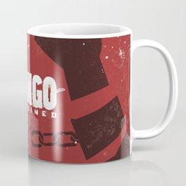 Django Unchained, Quentin Tarantino, minimalist movie poster, Leonardo DiCaprio, spaghetti western Coffee Mug