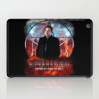 crowley iPad Cases featuring Supernatural Crowley King of Hell S6 by Jamie Fontaine