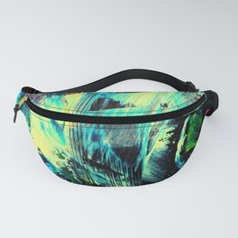 Undaunted A - Abstract in Black and Blue Fanny Pack