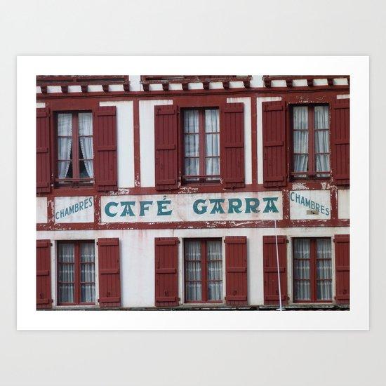 Basque Café Art Print