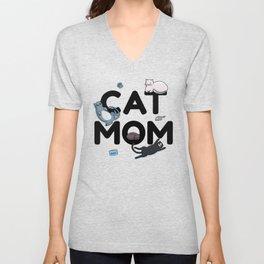 Cat Mom | Kitty Kitten Purring Feline Unisex V-Neck