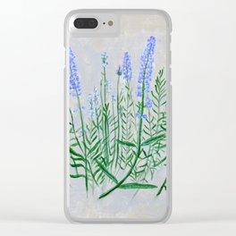 Lavender Plant Grows in the Garden Clear iPhone Case
