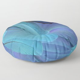 Blue Macaw Feathers Floor Pillow