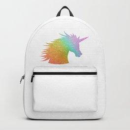 Rainbow Glitter Unicorn Backpack