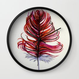 RED FEATHER Wall Clock