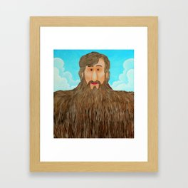 Jim's Amazing Beard Framed Art Print