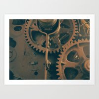 gears of war Art Prints featuring Gears by Chris Barbaree