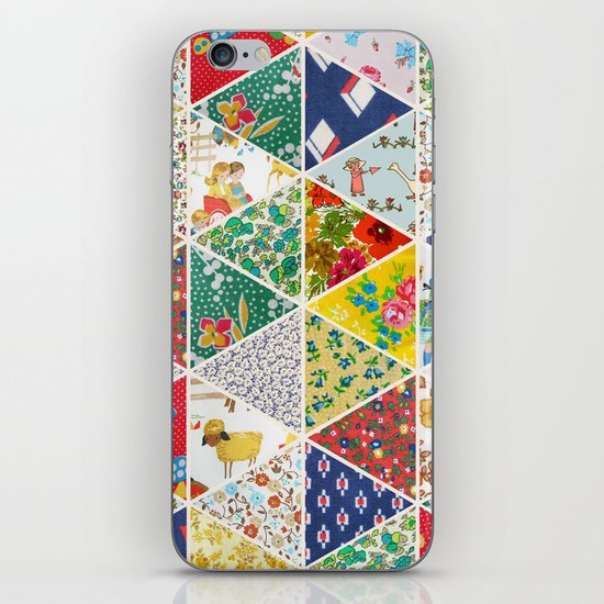 Geometric Floral Quilt iPhone Skin