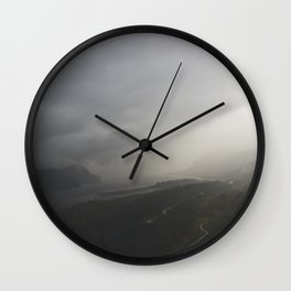 Storms Over the Gorge Wall Clock