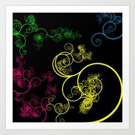 Neon Loopy Art Print